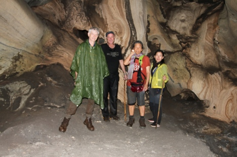 Group inside TakTan cave