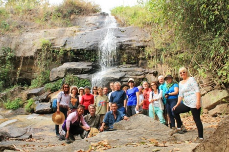 Group at Chang Khian Waterfall - photo by Pam