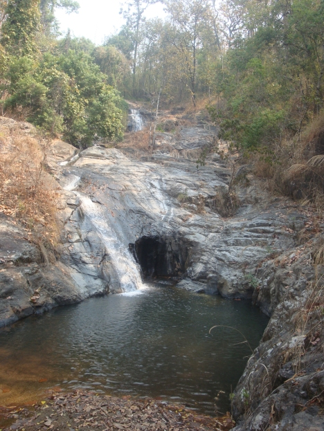 The cave behind Srisangwan Waterfall