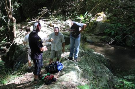 Banana picnic at the waterfall