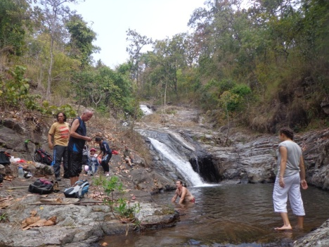 Lunch and swimming at Sri Sangwan Waterfall