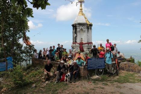 Group Photo At The Stupa