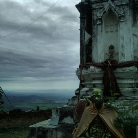 Cliff top stupa