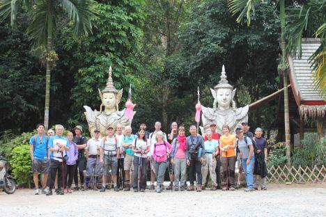 Assembling at Wat Pa Lad