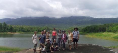 Group photo at Mae Yen reservoir