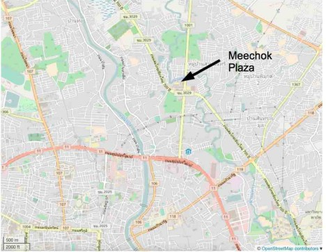 Location of Meechok Plaza